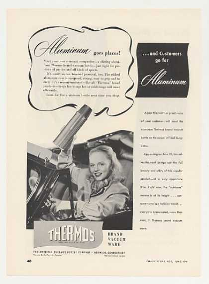 Thermos Aluminum Vacuum Bottle (1948)