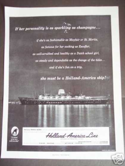 Holland America Line Cruise Ship Photo Travel (1956)