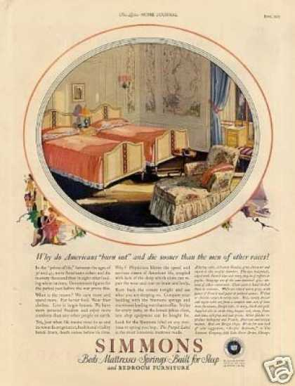 Simmons Bedroom Furniture Color (1925)