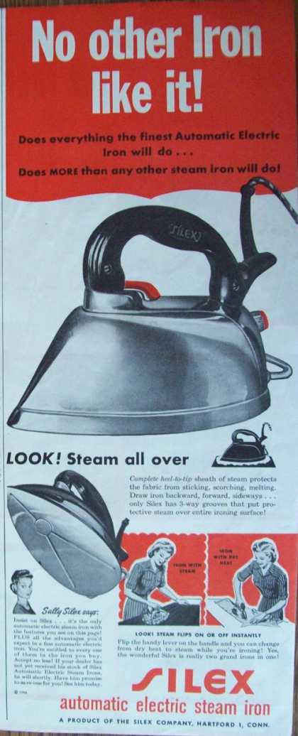 Silex Automatic Electric Steam Iron Print (1944)
