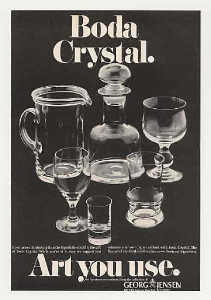 Boda Crystal Art You Use Georg Jensen (1970)