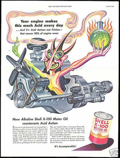 Car Engine Artzybasheff Art Shell Oil (1952)