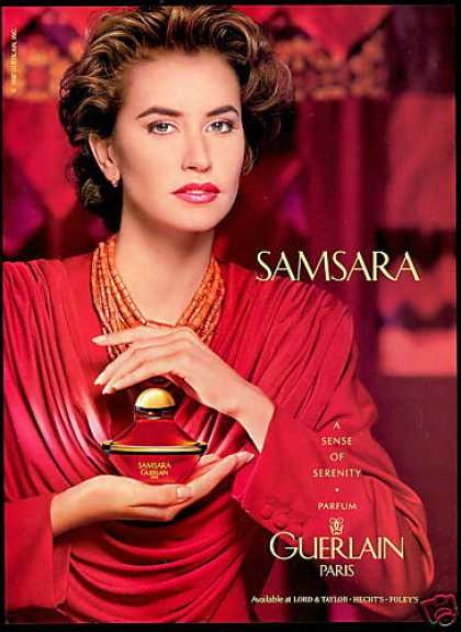 Guerlain Samsara Perfume Tracy Toon Photo (1992)