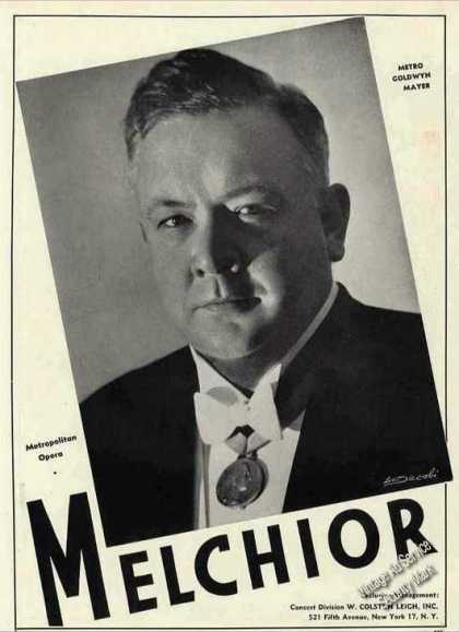 Lauritz Melchior Photo Opera Booking (1944)