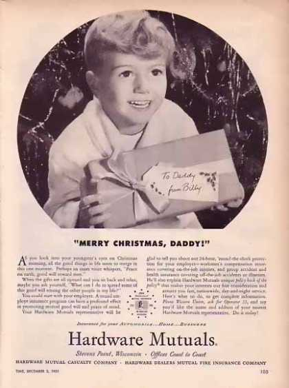 Hardware Mutual Casualty Christmas – Merry Christmas Daddy (1951)