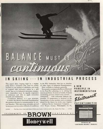 Brown Instrument Company's Brown Electronik Potentiometer – Balance Must Be Continuous (1944)