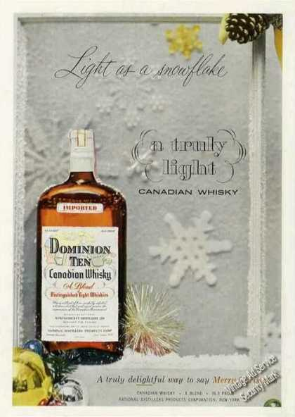 Dominion Ten Canadian Whiskey Christmas (1953)