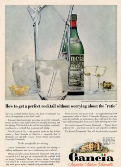 Gancia Vermouth Bottle (1958)