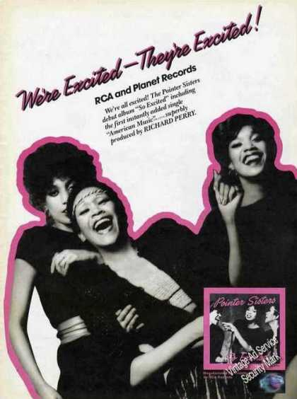 Pointer Sisters Photo Debut Album Music Promo (1982)
