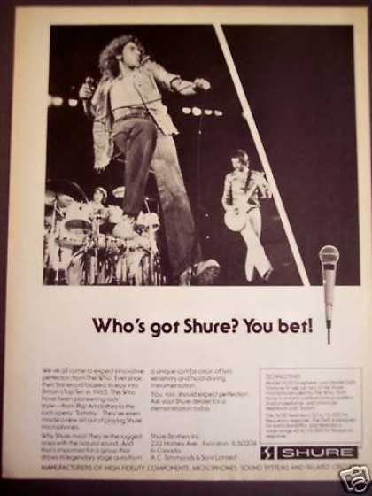 The Who Use Shure Microphones Music (1977)