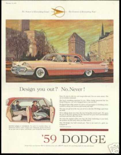 Dodge Great Two Tone 4 Door Sedan Vintage Car (1959)