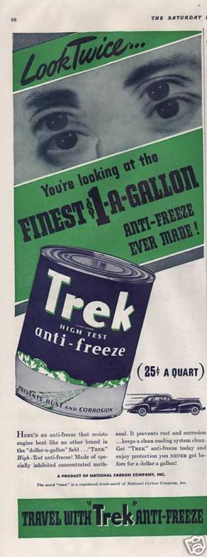 Trek High Test Anti Freeze for Cars (1940)