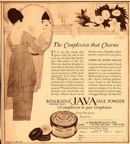 Bourjoi's Java face powder – The Complexion that Charms (1922)