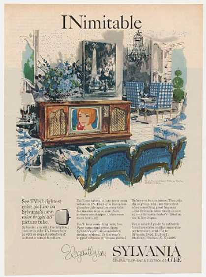 Sylvania French Provincial Color TV Theater (1965)