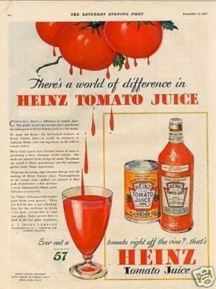 Heinz Tomato Juice Color (1931)