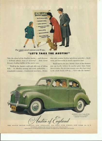 Austin of England Green Sedan Car (1949)
