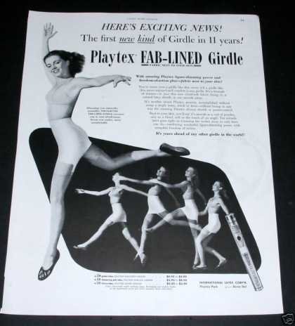 Old , Playtex Fab-lined Girdle (1950)