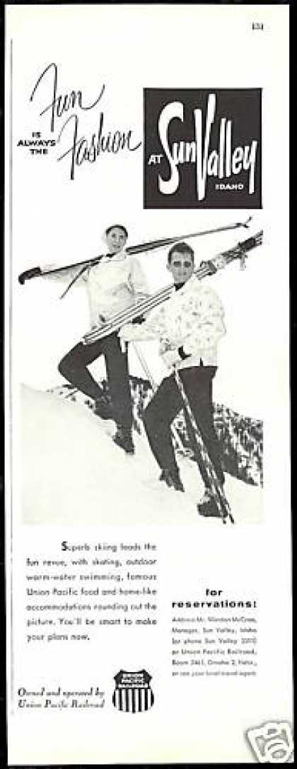 Sun Valley Idaho Snow Ski Skiers (1958)