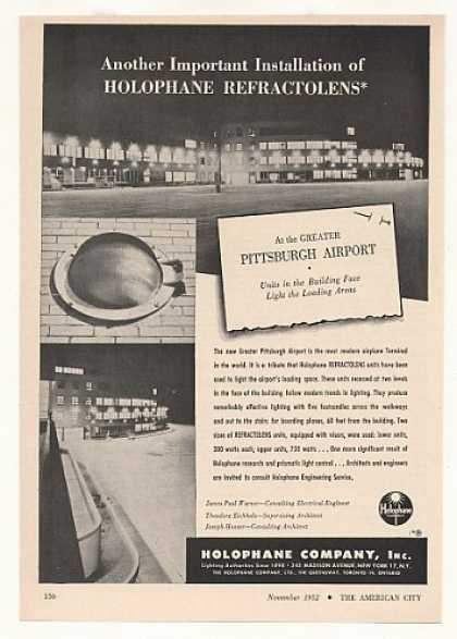 Greater Pittsburgh Airport Holophane Lighting (1952)