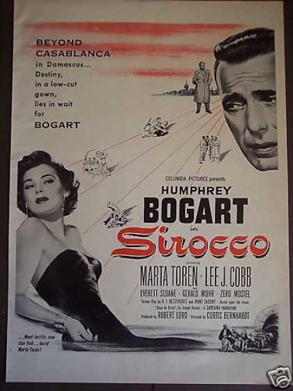 Humphrey Bogart In Sirocco Movie Promo (1951)
