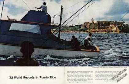 Fishing Off El Morro Castle San Juan Pr Travel (1958)