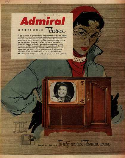 Admiral Corporation's Television Combination – Admiral, Clearest Picture in Television (1951)