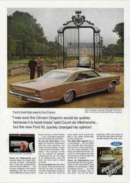 Ford Xl By Villarceaux French Estate Car Photo (1966)