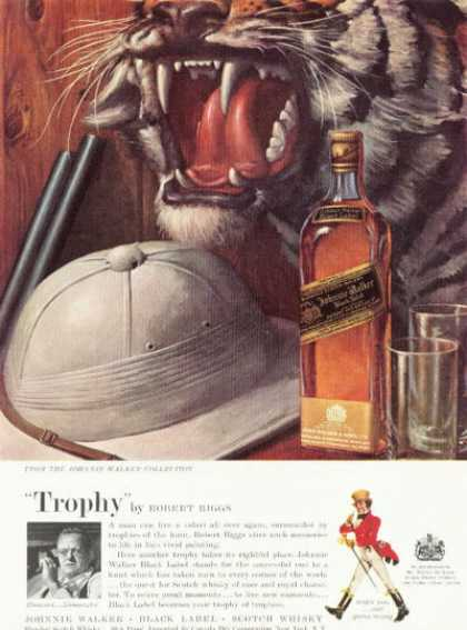"Johnnie Walker Scotch Ad ""Trophy"" By Robert Riggs (1959)"