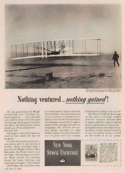 New York Stock Exchange – Wright Brothers (1948)