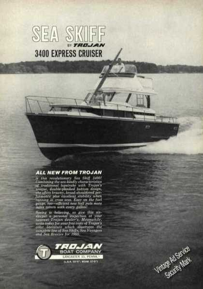 Trojan Sea Skiff 3400 Boat Advertising (1965)