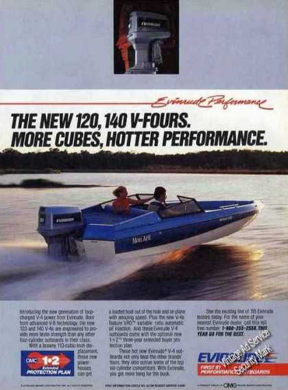Evinrude Outboard On Mon Ark Boat Photo (1985)