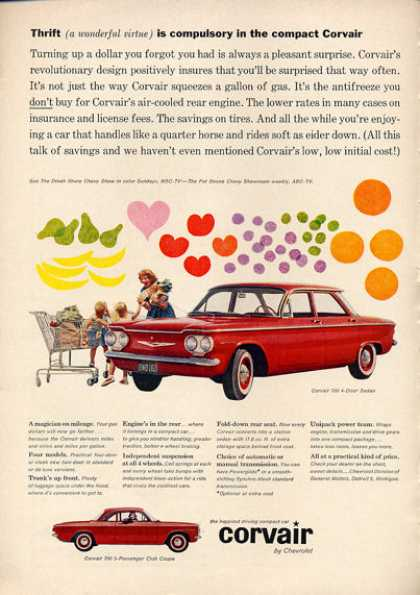 Chevy Chevrolet Corvair 700 Shopping (1960)