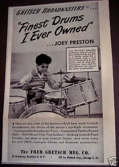 Joey Preston Gretsch Drums (1949)