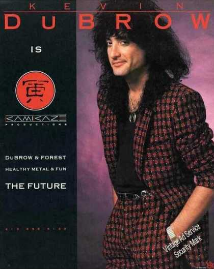 Kevin Dubrow Photo Collectible Music (1987)