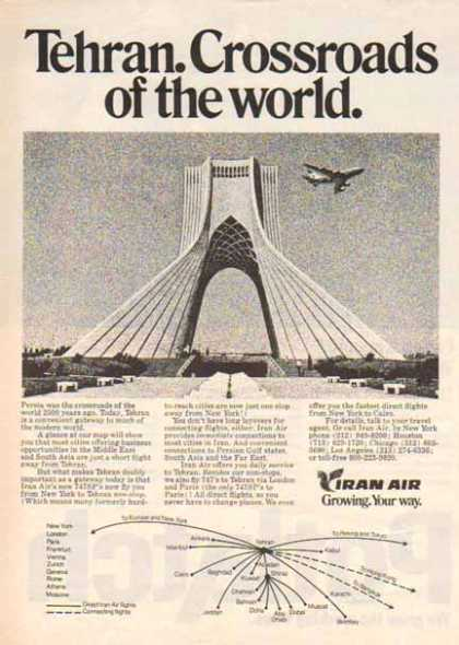 Iran Airlines – Tehran Crossroads of the world. (1977)