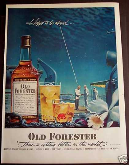 Old Forester Kentucky Bourbon Whiskey (1952)