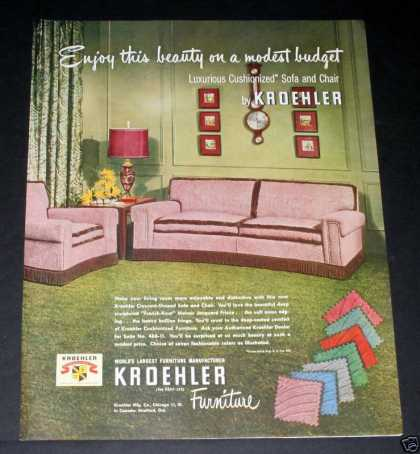 Kroehler Sofas, Luxurious (1950)