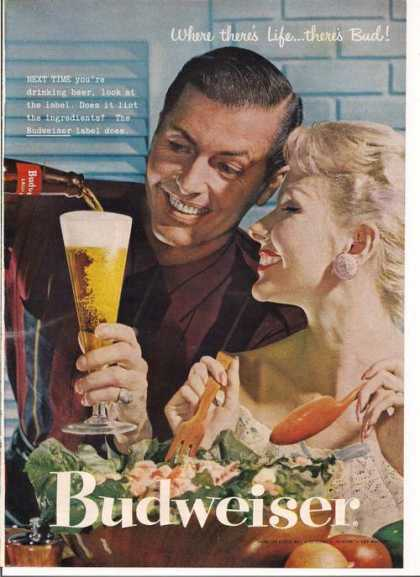 Budweiser Where There's Life Theres Bud (1957)