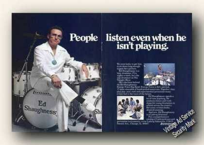 Ed Shaughnessy Photo Ludwig Drums Large Color (1978)