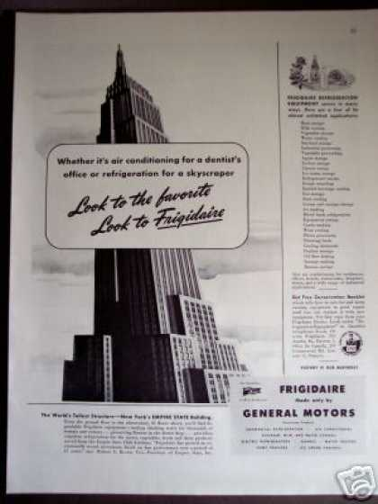 Empire State Building Worlds Tallest Frigidaire (1945)