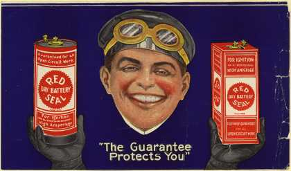"""Red Seal Dry Batterie's Red Seal Dry Battery – """"The Guarantee Protects You"""""""