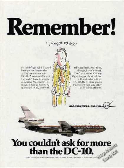 "Mcdonnell Douglas Dc-10 ""I Forgot To Ask"" (1978)"