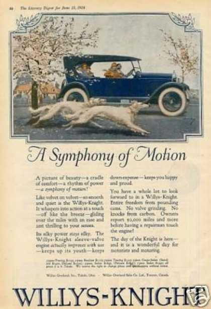 Willys-overland Car Color Ad Norman Price Art (1924)
