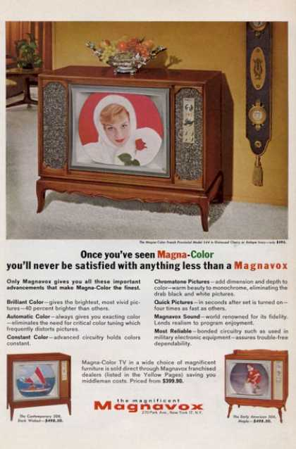 Magnavox Color Tv 3 Models French Prov (1965)