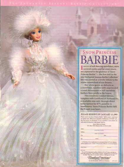 Barbie Doll – Snow Princess Barbie (1994)