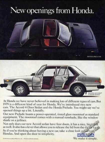 "Honda Prelude/accord ""New Openings"" Car (1979)"