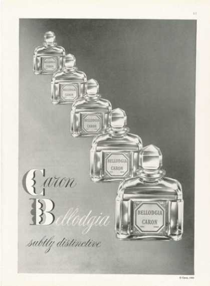 Caron Bellodgia Perfume Bottle Photo (1959)