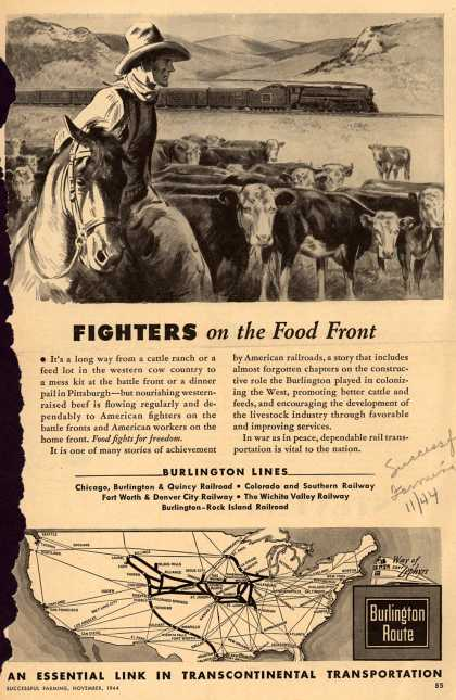 Burlington Route's Food Transportation – FIGHTERS on the Food Front (1944)