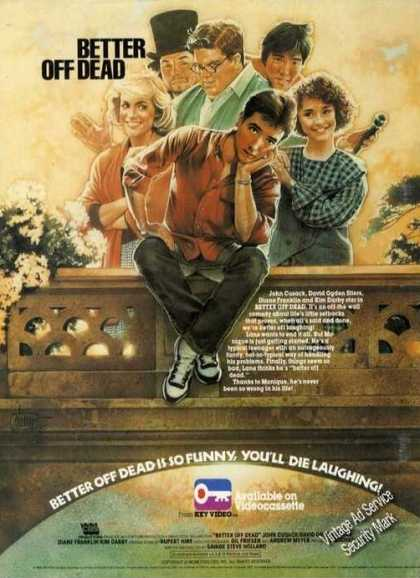Better Off Dead Movie Promo Ad Nice Art (1986)