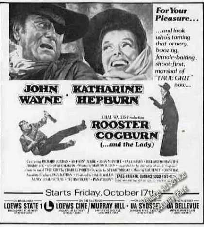 John Wayne/katharine Hepburn &quot;Rooster Cogburn&quot; (1975)